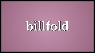 Billfold Meaning