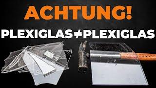 Alle Unterschiede zwischen Hobbyglas, Plexiglas, Polycarbonat, Polystyrolglas in einem Video!