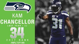 #34: Kam Chancellor (S, Seahawks) | Top 100 Players of 2017 | NFL