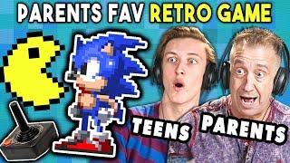 Parents Play Their Favorite Video Game With Their Teens (Sega, Atari) | REACT
