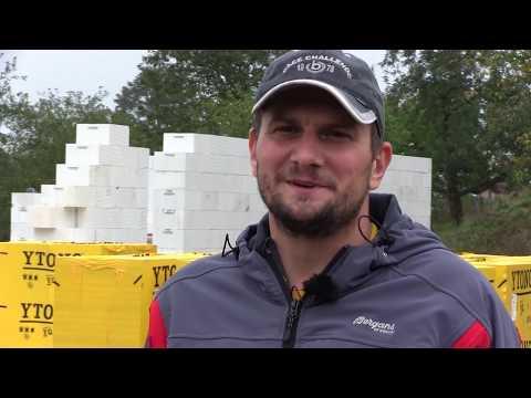 Na návštěvě u svépomocníka Karla - zdění hrubé stavby z Ytongu