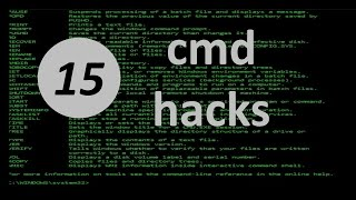 15 cmd hacks for Windows 10 you should know