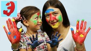 ПАЛЬЧИКОВЫЕ КРАСКИ: Играем в игру Рисуем краской на лице