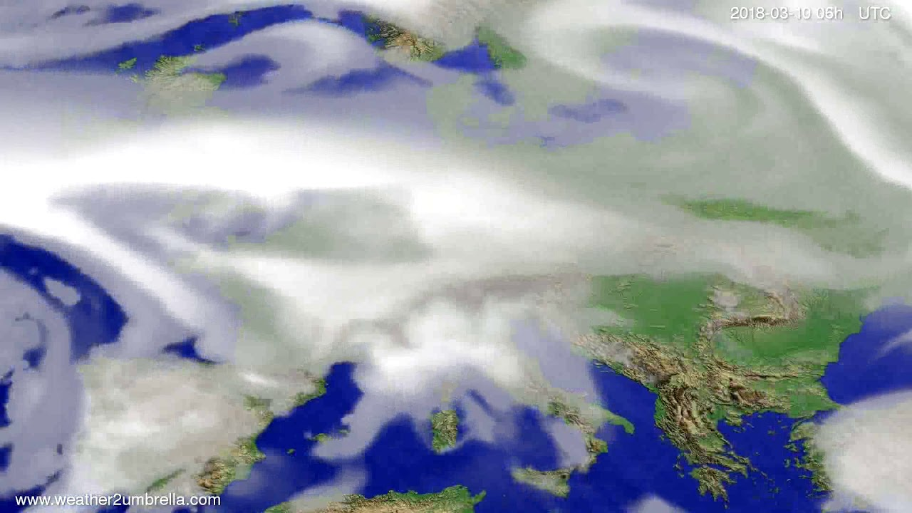 Cloud forecast Europe 2018-03-07
