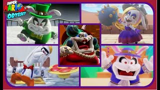 Super Mario Odyssey - All Broodal Boss Encounters - No Damage!!