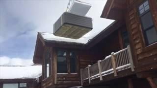 Winter Crane Hot Tub Install