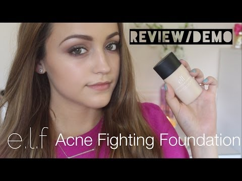 Review & Demo- e.l.f Acne Fighting Foundation!