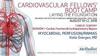 Myocardial Perfusion/RWMAs (Katie Goergen, MD)
