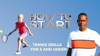 Tennis Drills for 8 and under Part 1