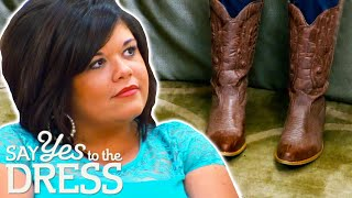 Bride Wants To Wear Cowboy Boots With Her Wedding Dress | Say Yes To The Dress Atlanta