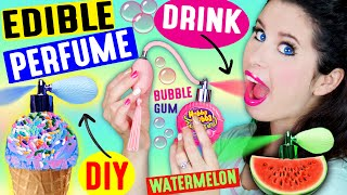 DIY EDIBLE PERFUME | Spray In Your Mouth | Drink Fragrance | Lickable & Kissable Body Splash! by GlitterForever17