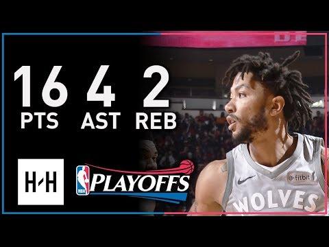 Derrick Rose Full Game 1 Highlights Timberwolves vs Rockets 2018 Playoffs - 16 Pts, 4 Ast, 2 Reb!
