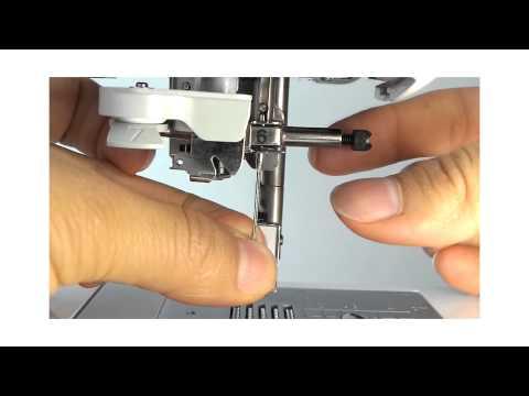 Como poner una aguja en maquina de coser