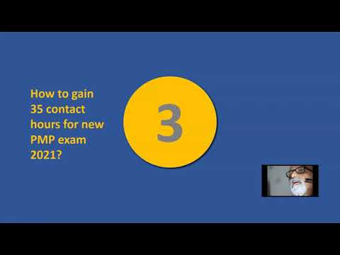 How to gain 35 contact hours training for the new PMP 2021?
