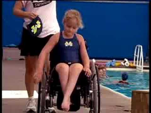 Screenshot of video: Swimmer with Spina Bifida