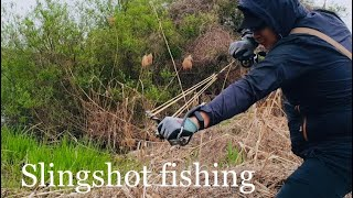 Рыбалка на сазана с рогаткой