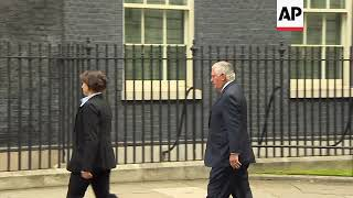 Tillerson arrives at 10 Downing Street for meeting with May