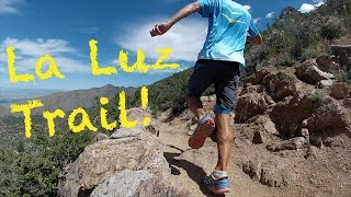 Sage Canaday runs La Luz trail