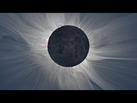 What are astronomers looking for during the total solar eclipse?