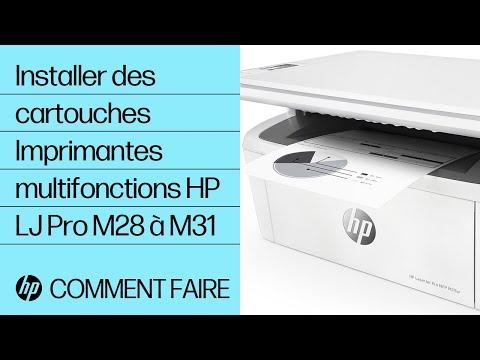Installer des cartouches dans les imprimantes multifonctions HP LaserJet Pro M28 à M31