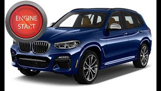 BMW X3 with a dead key fob: Get in and start the car.