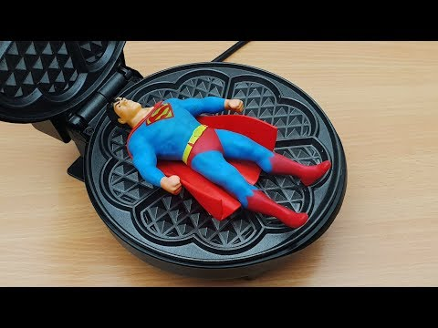 EXPERIMENT WAFFLE IRON Vs Stretch Superman