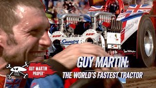 Guy's drive in the 8000HP Tractor | Guy Martin Proper