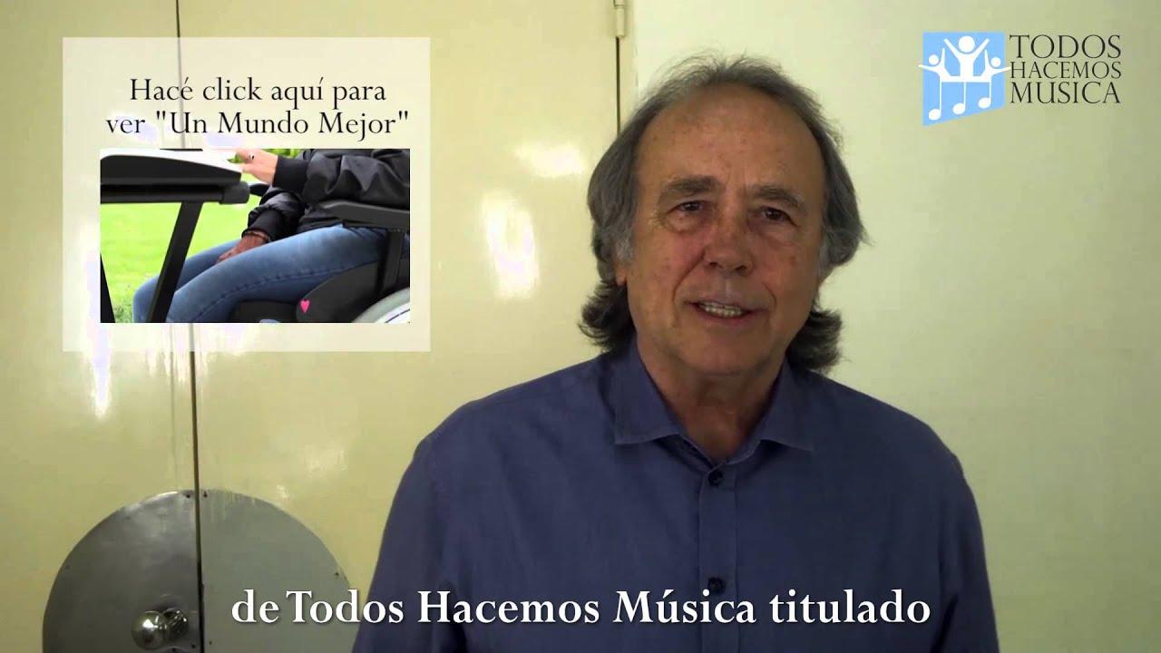"""Joan Manuel Serrat presenta """"Un Mundo Mejor"""" de Todos Hacemos Música"""