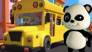 Baby Bao Panda | roda di bus | lagu untuk bayi | Sajak anak-anak | Wheels On The Bus Rhyme