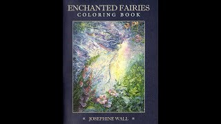 Coloring Book Flip Through | Enchanted Fairies Josephine Wall