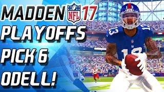 FREE SAFETY ODELL BECKHAM INTERCEPTION MACHINE!  PLAYOFFS! - Madden 17 Ultimate Team NFL mut 17