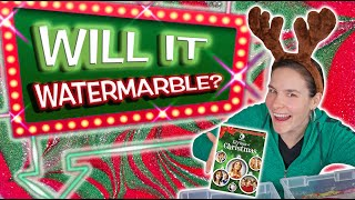 Will It Watermarble?! Cristmas Edition | Watermarbling 5 objects in nail polish!