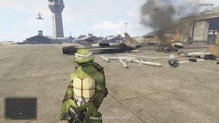 GTA 5 Mod Ninja Rùa ném bom huỷ diệt thành phố GTA 5