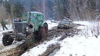 Реальное Русское бездорожье! Сломали УАЗ, пошли за трактором!? Брод, грязь, бездорожье, оффроад 2018