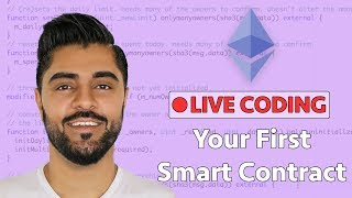 How To Create Your First Ethereum Smart Contract - Live Coding