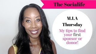 My tips to find your first sponsor or donor? #managingitall #nonprofit #Entrepreneur