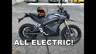 2017 Zero DSR Review - Test Ride. Completely ELECTRIC Motorcycle!