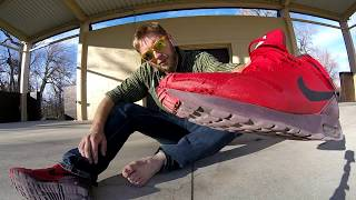 100 Kickflips in Nike Air Max Tavas!