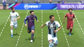 FIFA 19 SPEED Test : Who Is The FASTEST Player In FIFA?