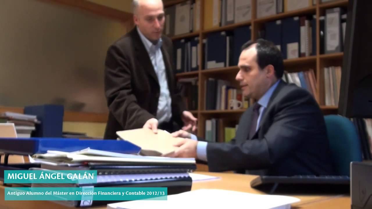 Miguel Ángel Galán, alumno del Master en Dirección y Gestión Financiera