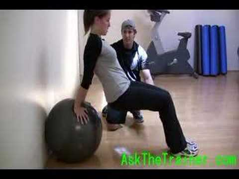 Stability Ball Triceps Dips