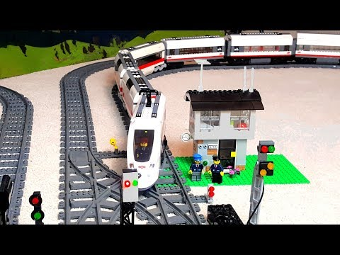Long Train Arriving And Leaving Lego City Railway Youtube Search Ru