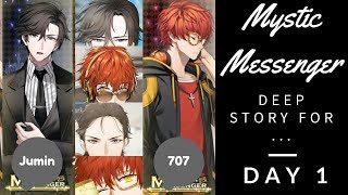 Mystic Messenger Day 1 | Deep Story: Jumin and 707