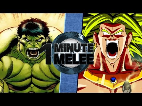One Minute Melee S4 EP2 - Hulk Vs Broly (Marvel vs DBZ)
