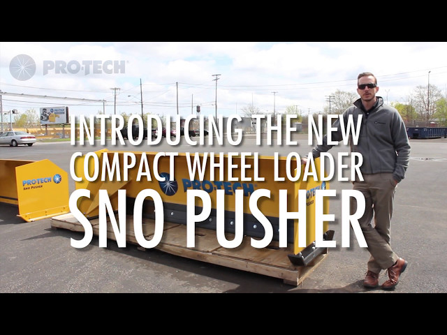 Compact Wheel Loader Sno Pusher Overview