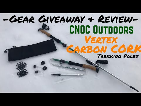 CNOC Outdoors Vertex Carbon & Cork Trekking Poles (Review & Giveaway)