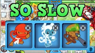 Legendary Late Game with Only Stalling Towers! (BTD Battles)