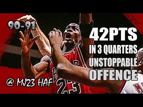 Michael Jordan Highlights vs Nets (1991.03.28) – 42pts in 3 Quarters, UNSTOPPABLE!