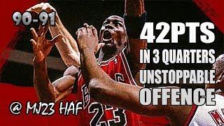 Michael Jordan Highlights vs Nets (1991.03.28) – 42pts in 3 Quarters, UNSTOPPABLE!