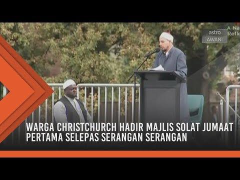 New Zealand Berkabung: Warga Christchurch hadir majlis solat Jumaat pertama selepas serangan